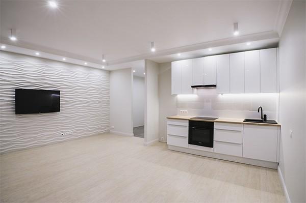 Косметический ремонт квартиры студии в новостройке